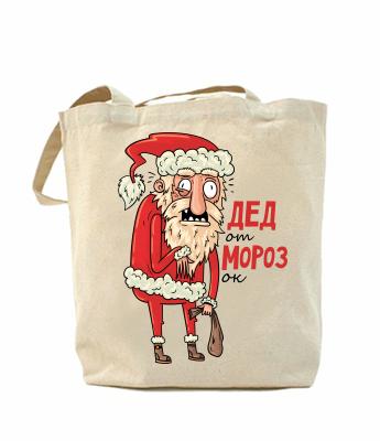 Эко-сумка, шоппер с принтом повседневная Дед отморозок