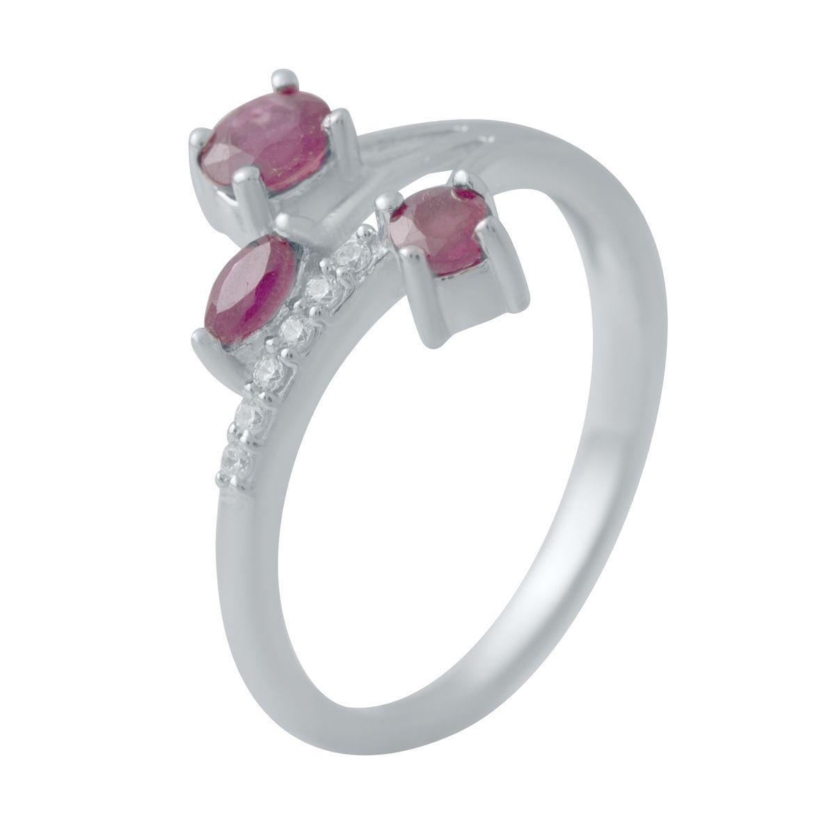 Серебряное кольцо DreamJewelry с натуральным рубином (2027126) 18 размер