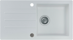 Кухонна мийка KERNAU KGS A 50 1B1D PURE WHITE