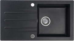 Кухонна мийка KERNAU KGS A 50 1B1D BLACK METALLIC