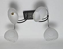 Люстра, 4 лампы, белые плафоны, фото 2