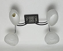 Люстра, 4 лампы, белые плафоны, фото 3