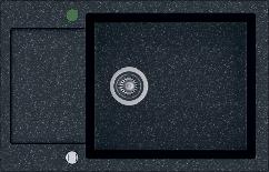 Кухонна мийка KERNAU KGS H 6078 1B1D BLACK METALLIC