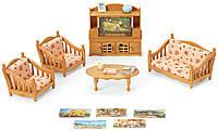 Игровой набор Сильвания Фемели Комфортная Гостинная Calico Critters Comfy Living Room