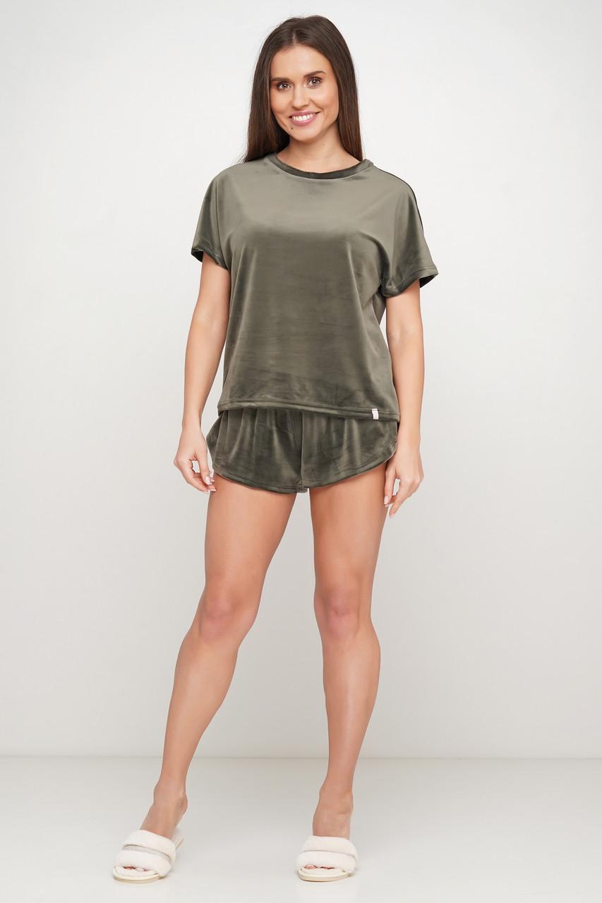 Велюровая пижама шорты и футболка TM Orli