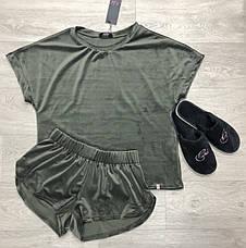 Велюровая пижама шорты и футболка TM Orli, фото 3