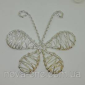 "Декор проволока ""Бабочка""  Цвет серебристый 70 х 68 мм"
