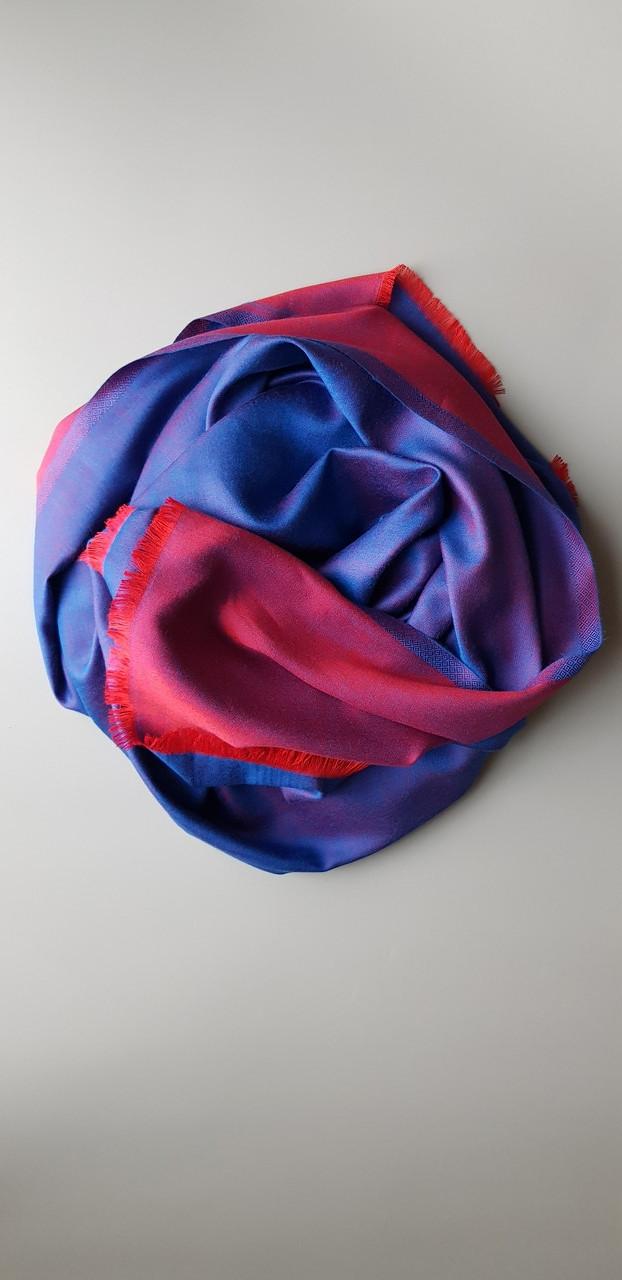Двухсторонний шарф фиолетово/красный