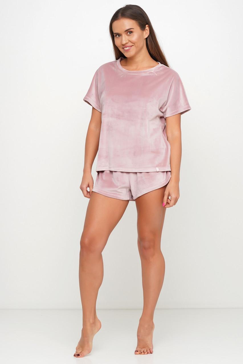 Нежная велюровая пижама шорты и футборка TM Orli