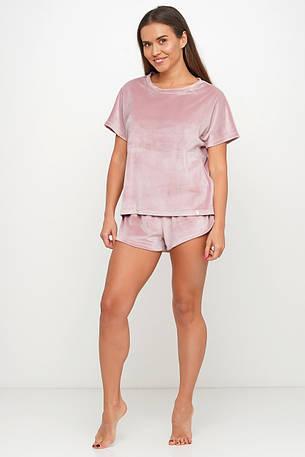 Нежная велюровая пижама шорты и футборка TM Orli, фото 2