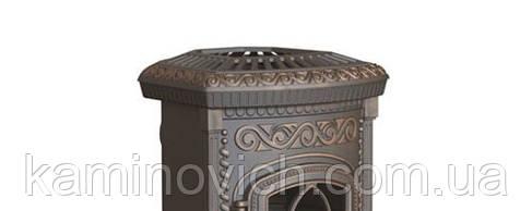 Каминная чугунная печь NORDFLAM PLATO PATYNA, фото 2