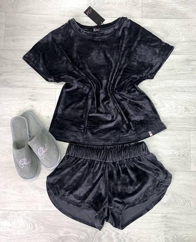 Шикарная велюровая пижама шорты и футболка TM Orli, фото 2