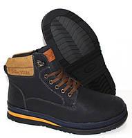 Зимние мужские высокие ботинки на меху, фото 1
