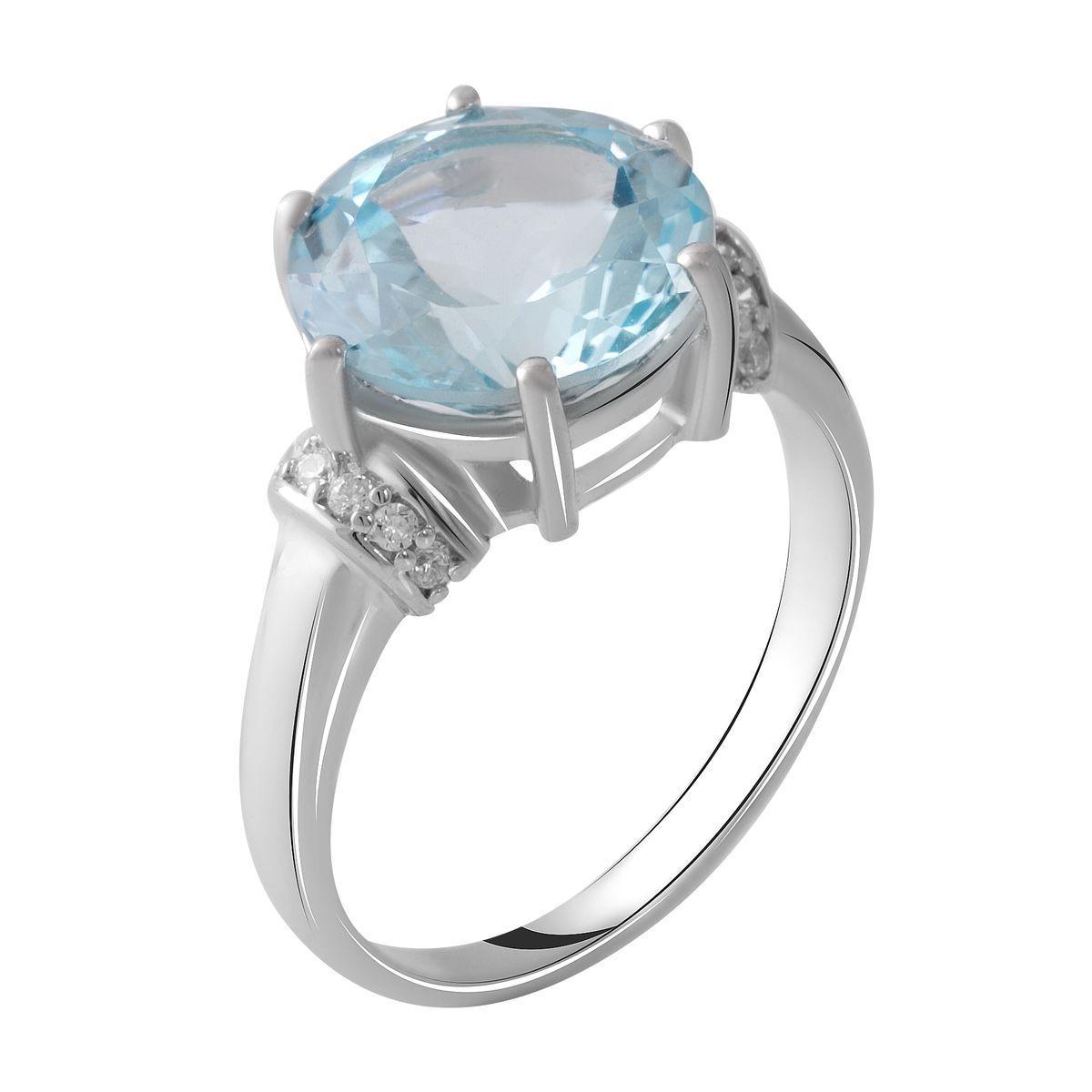 Серебряное кольцо DreamJewelry с натуральным топазом 3.28ct (2049463) 18 размер