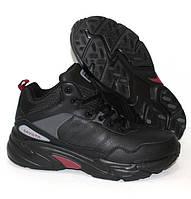 Черные мужские кроссовки на меху зимние, фото 1