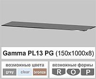 Стеклянная полка прямоугольная Commus PL13 PG (150х1000х8мм), фото 1