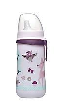 """Чашка-поїлка NIP """"First cup"""" з м'яким носиком 330мл, рожева, (Німеччина)"""