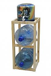 Подставка деревянная Clover под 2 +1 бутыли (00000000120)