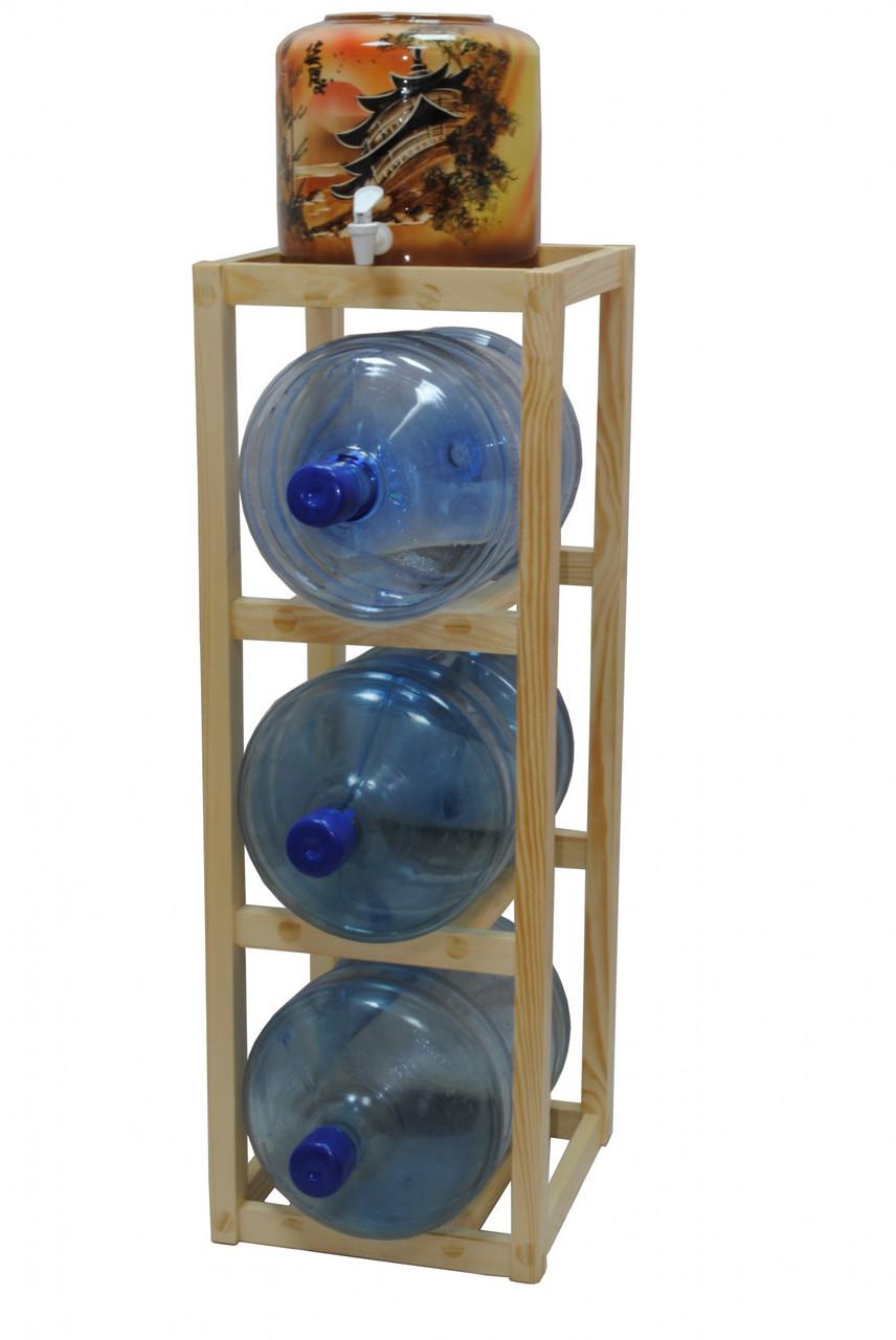 Подставка деревянная Сlover под 3 +1 бутыли (00000000121)