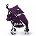 Детская коляска-трость фиолетовая CARRELLO Allegro CRL-10101/1 Kitty Purple в льне чехол на ножки подстаканник, фото 2
