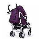 Детская коляска-трость фиолетовая CARRELLO Allegro CRL-10101/1 Kitty Purple в льне чехол на ножки подстаканник, фото 3
