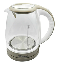 Чайник электрический стеклянный с подсветкой Domotec MS 8113 1,8 л