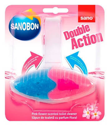 Туалетная блок Двойное действие с ароматом цветов 55 г (SANO)