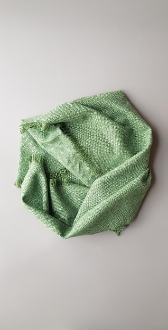 Платок из беби кашемира зеленого цвета