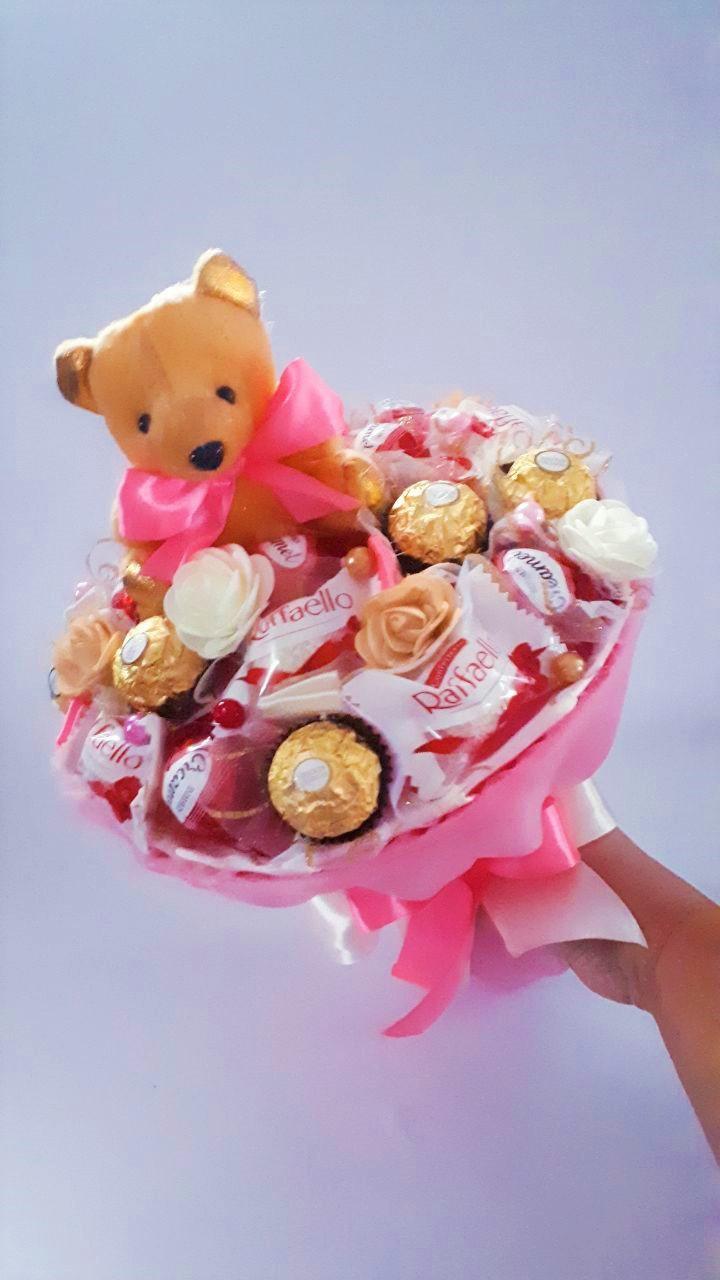 Букет из конфет Okl с игрушкой РР 2017