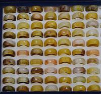 Кільце халцедон, жовтий, розмір 17, 18, (1 шт)