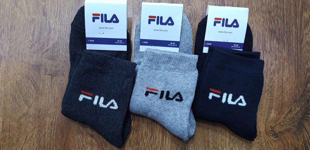 """Шкарпетки жіночі або підліткові махрові в стилі """"FILA W"""", Туреччина 36-40"""