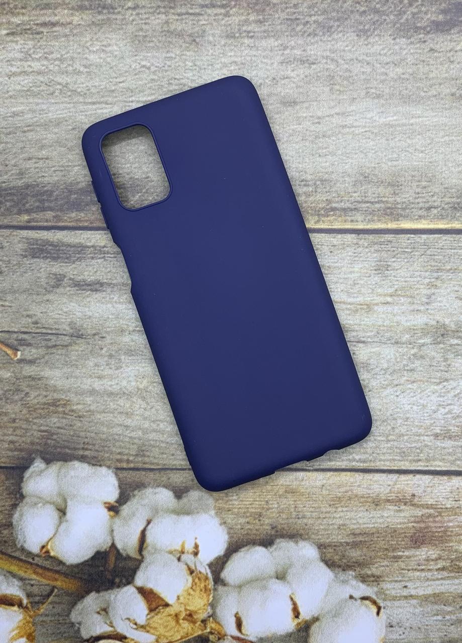 Samsung M31S 2020 (M317F) чехол матовый цветной силиконовый синий