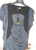 Черно-серая кофточка с драпировкой 2026 Paris, фото 1