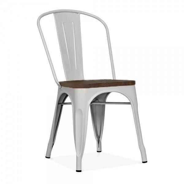 Стул  штабелируемый  Толикс SDM, металл, серый, глянцевый, сиденье коричневое