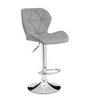 Высокий барный стул Старлайн экокожа Серый