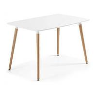 Обеденный стол Нури SDM прямоугольный 120*80 см Белый