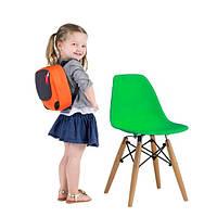 Детский стул Тауэр Вaby SDM, пластиковый, ножки дерево бук, цвет зеленый