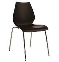 Штабелируемый стул Лили SDM, пластик, хром, цвет черный