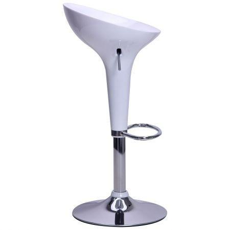 Стул барный Джолли SDM, высокий, пластик, хром, цвет белый