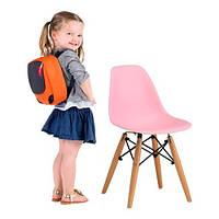 Детский стул Тауэр Вaby SDM, пластиковый, ножки дерево бук, цвет розовый