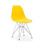 Стул Тауэр SDM, хромированный, пластик, цвет желтый