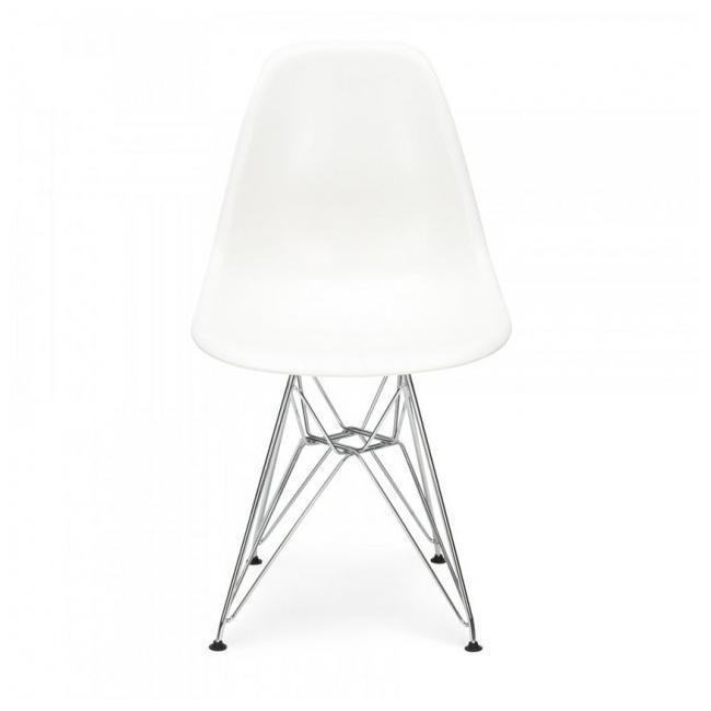 Стул Тауэр SDM, хромированный, пластик, цвет белый