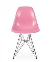 Стул Тауэр SDM, хромированный, пластик, цвет розовый