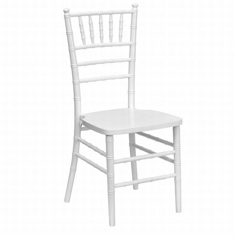 Штабелируемый стул Чиавари SDM, дерево, с подушкой, цвет белый