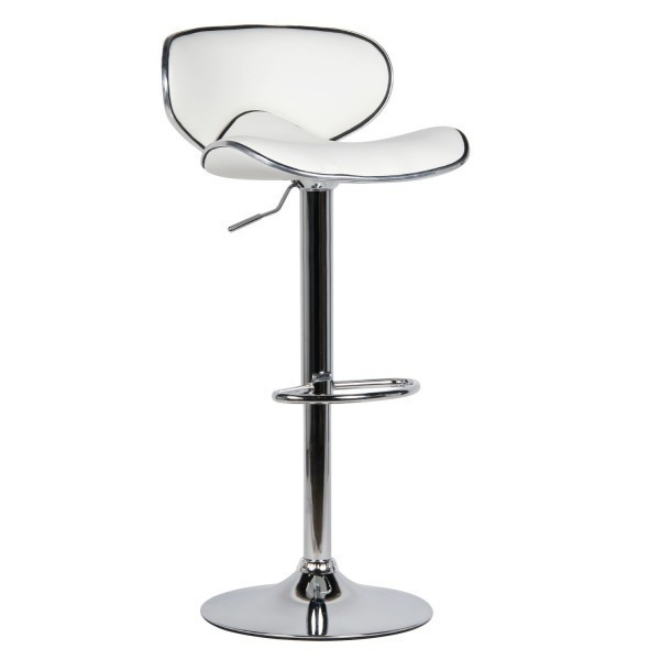 Високий барний стілець Саллі SDM екокожа Білий