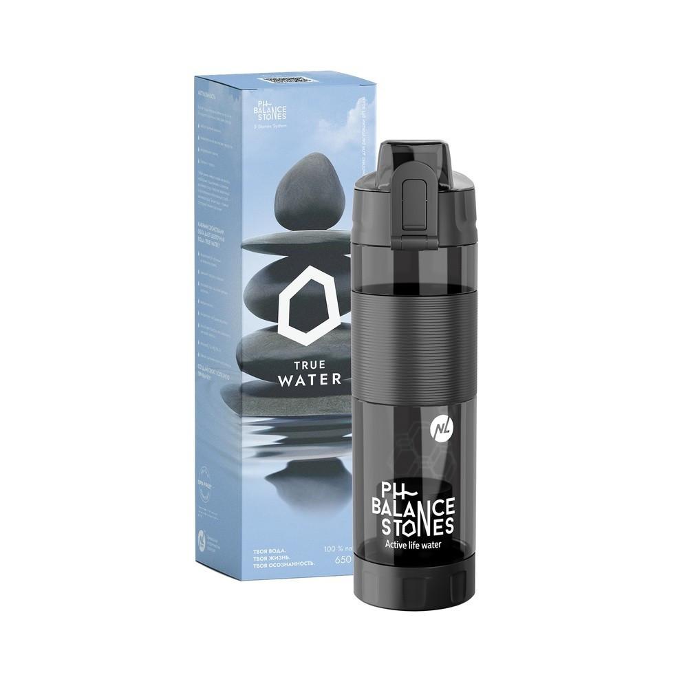 Фляга для воды PH Balance Stones Комплект для ощелачивания воды (устройство + картридж), черный, 650 мл