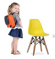 Детский стул Тауэр Вaby SDM, пластиковый, ножки дерево бук, цвет желтый