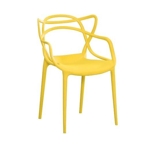 Стул дизайнерский Мастерс SDM, пластик, цвет желтый