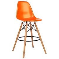 Стул барный Тауэр Вуд SDM, высокий, дерево бук, пластик, цвет оранжевый, не регулируемый по высоте, h=1050 мм