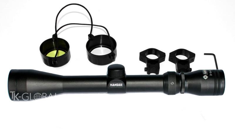 Оптичний приціл Kandar 3-9x40 сітка